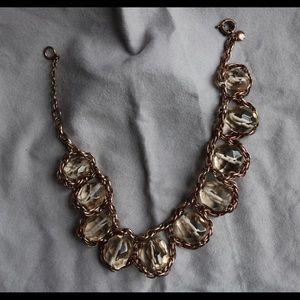 Jcrew Bubble Necklace Light Orange